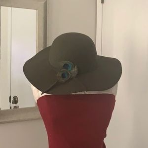 Wide brimmed Peacock hat